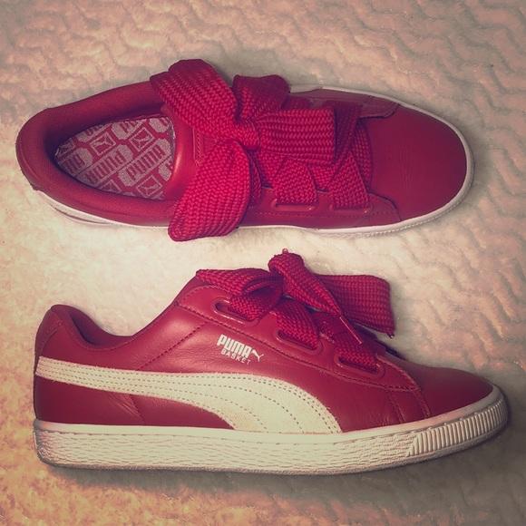 puma heart red